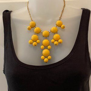 Yellow Beaded Bauble Necklace